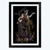 Radha Krishna Black Spiritual Glass Framed Painting