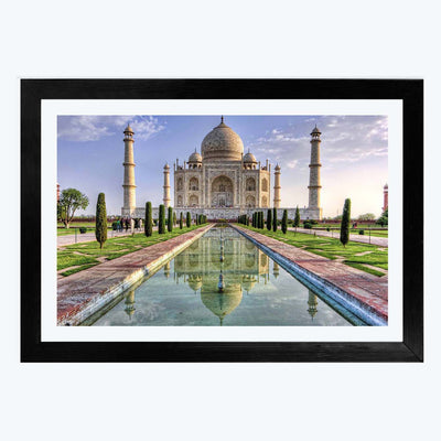 Taj mahal Travel Glass Framed Painting