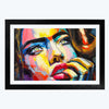 Women Pop Art Glass Framed Painting
