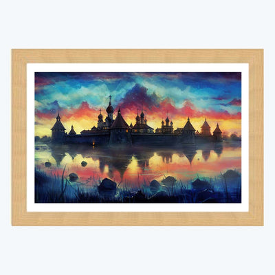 Vintage palace Framed Painting