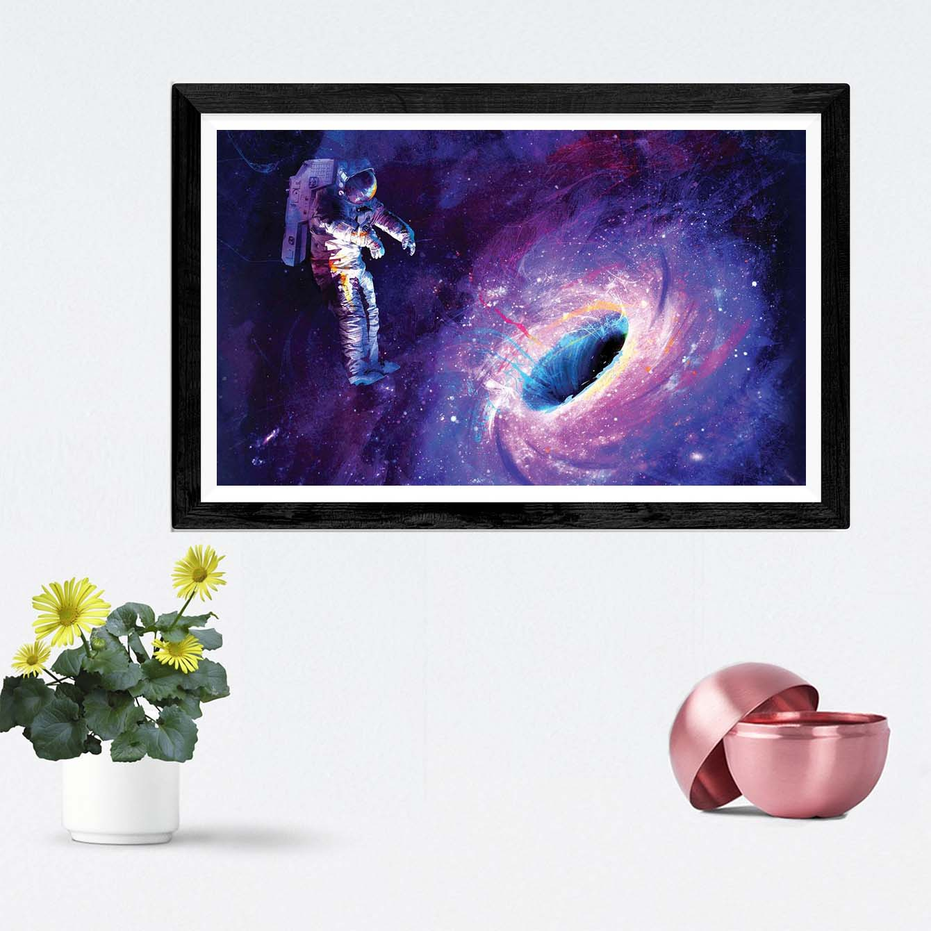 Black Hole in Space Framed Painting