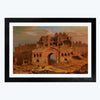 Old Palace  Glass Framed Painting