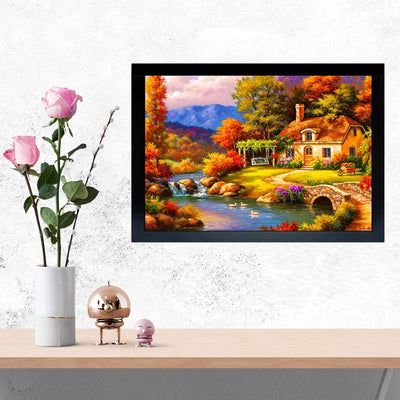 Scenario House Framed Painting