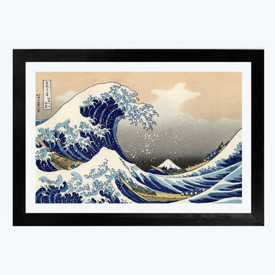 Great Wave  Glass Framed Painting
