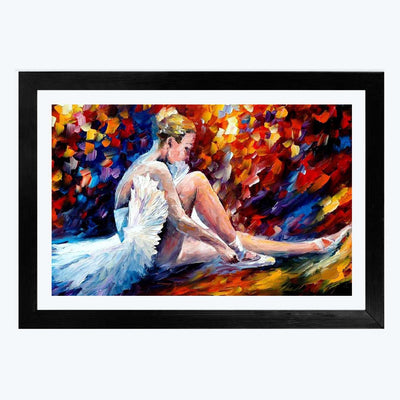 Dancing Lady  Glass Framed Painting