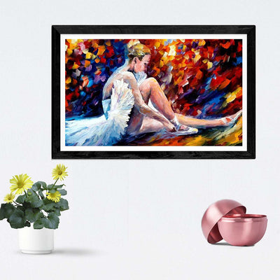 Dancing Lady Framed Painting