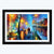 Colorful  Night Framed Painting