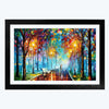 Colorful Road  Glass Framed Painting