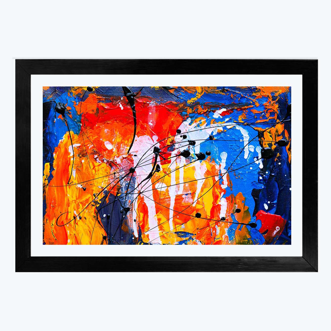 Abstract Framed Painting