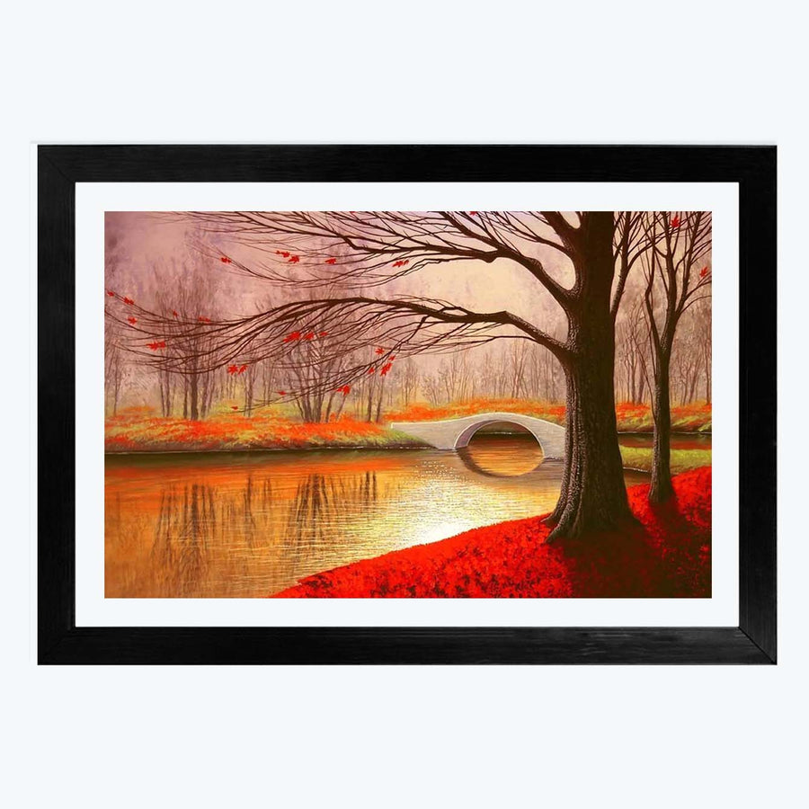 Lake Side Framed Painting