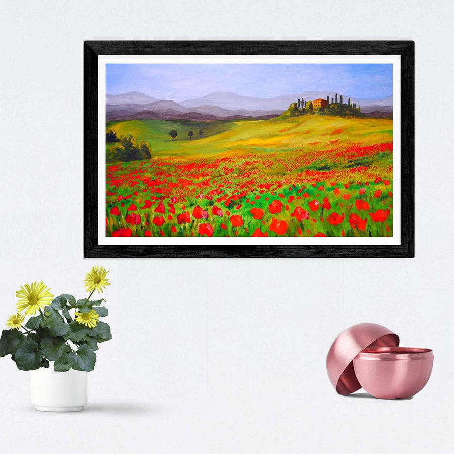 Flower Garden Framed Painting