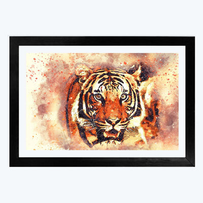 Lion Classic Animal Glass Framed Painting