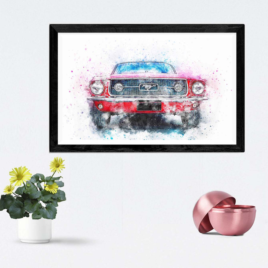 Ferrari Car Framed Painting