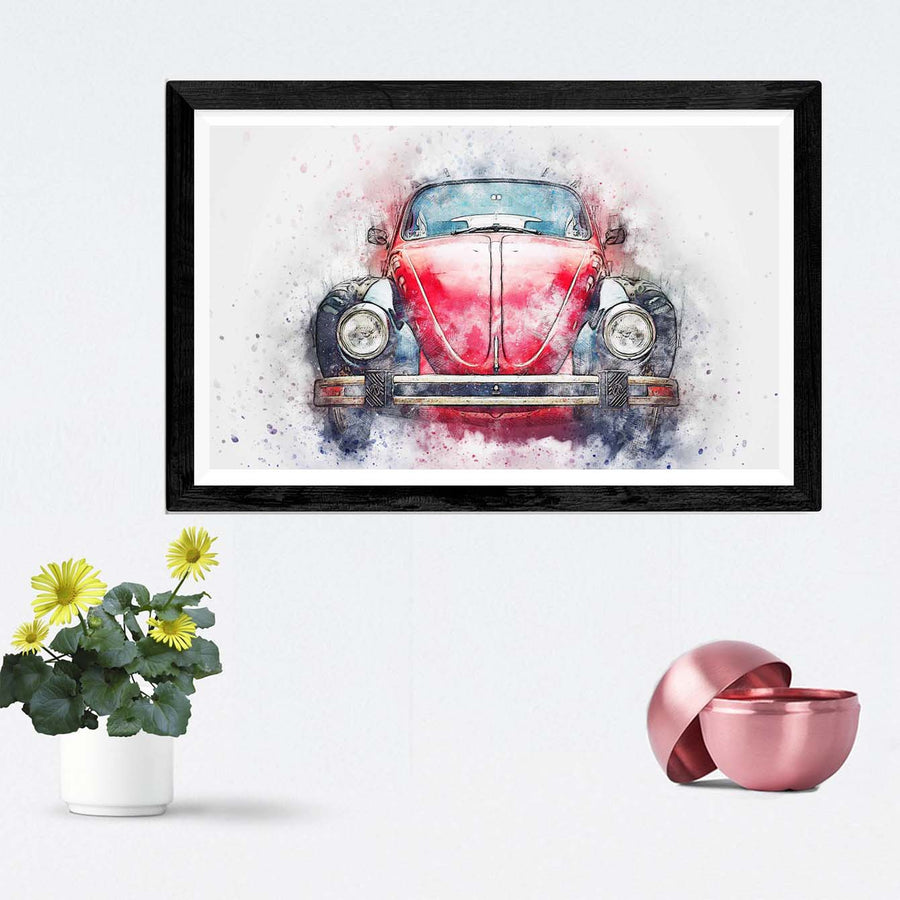 Old Car Framed Painting