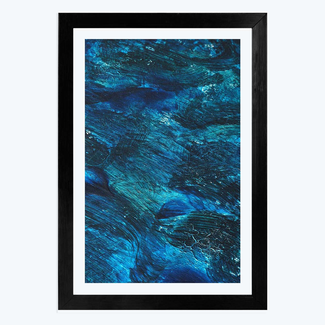 Blue Wallpaper Framed Painting