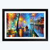 Love Night  Glass Framed Painting