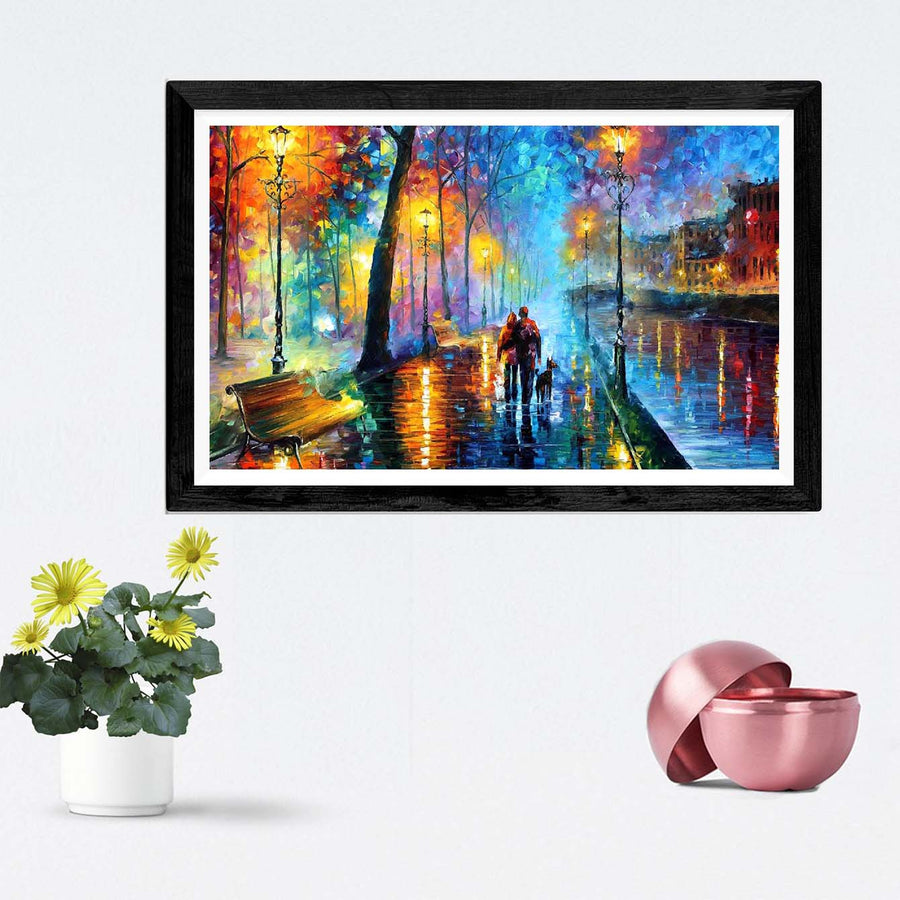 Love Night Framed Painting