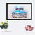 Blue Vintage Car Framed Painting