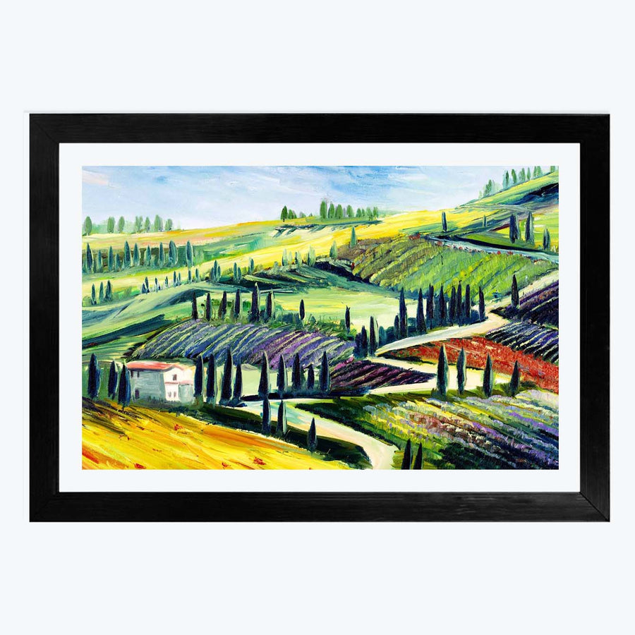 Village Framed Painting