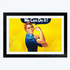 We Can Do it  Glass Framed Painting