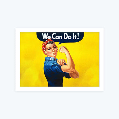 We Can Do it Framed Painting
