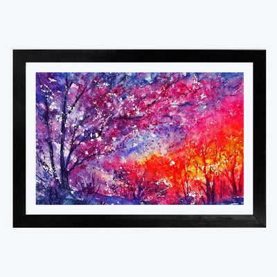 Colorful  Glass Framed Painting