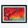tree oil  Glass Framed Painting