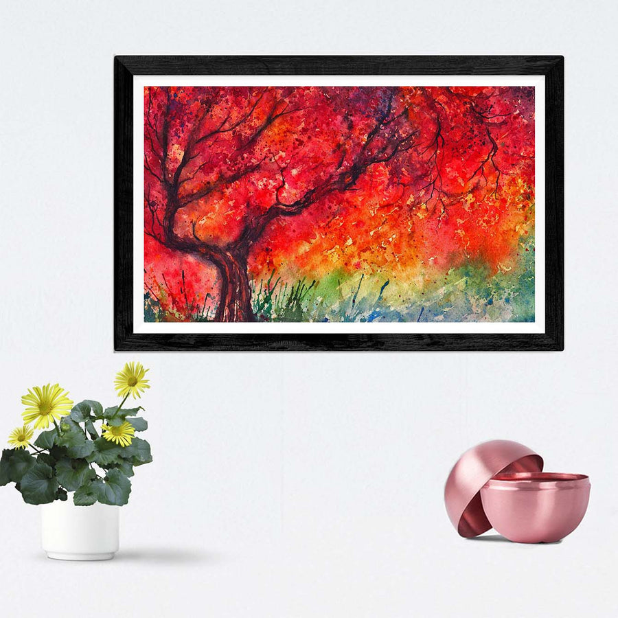 tree oil Framed Painting