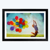 Colorful Balloon  Glass Framed Painting