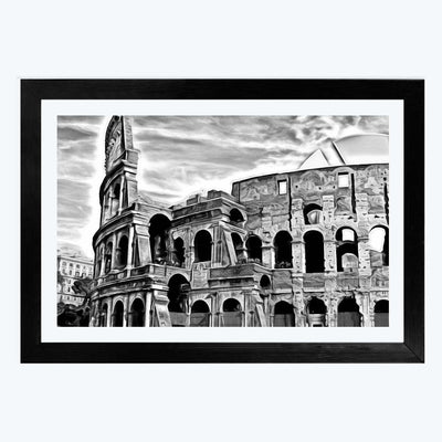 The Roman Colosseum  Glass Framed Painting