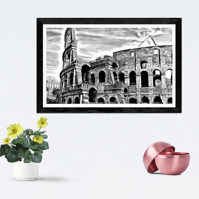 The Roman Colosseum Framed Painting