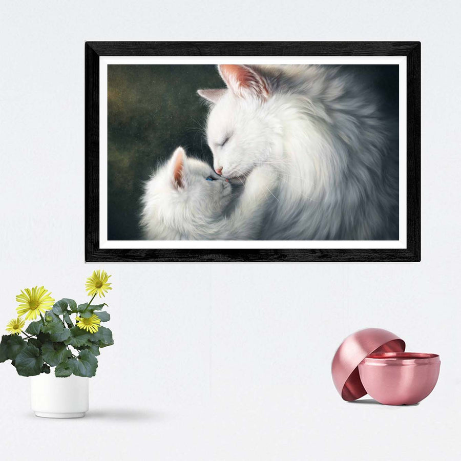 Cat Love Framed Painting