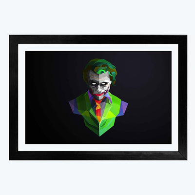 Jocker Pop art Abstract Glass Framed Painting