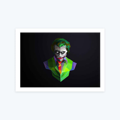 Jocker Pop art Framed Painting