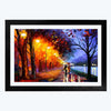 Night oil art  Glass Framed Painting