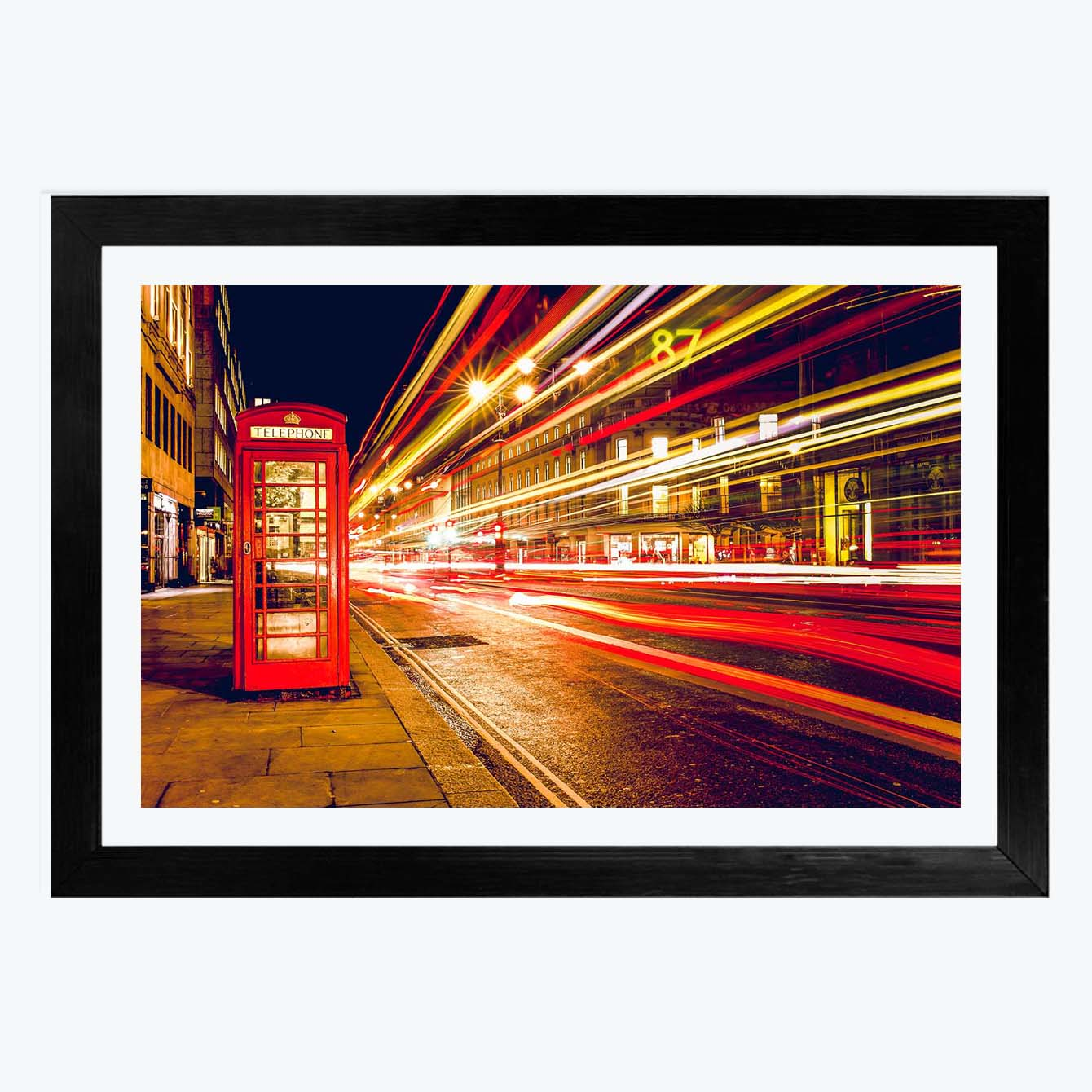 City Light Abstract Framed Photography