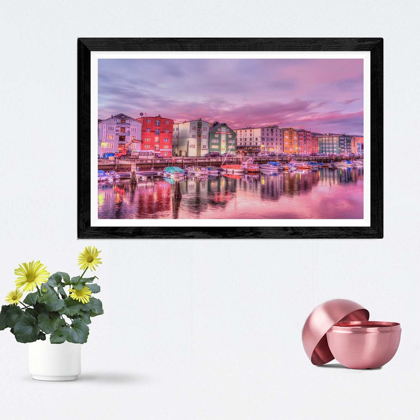 Colorful City Cities Framed Photography
