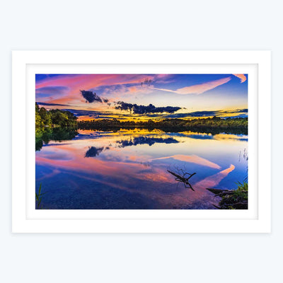Colorful Evening Framed Photography