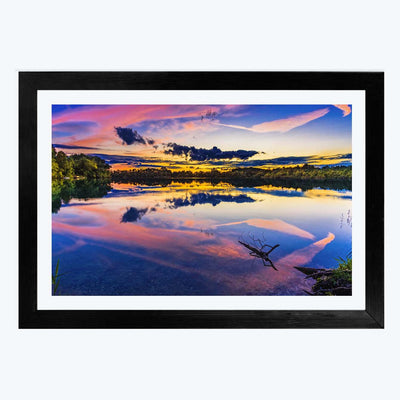 Colorful Evening Abstract Framed Photography