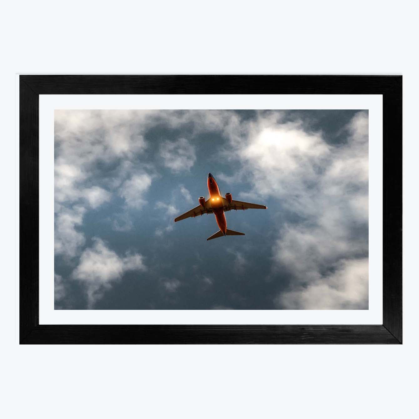 Airplane on cloud Framed Photography