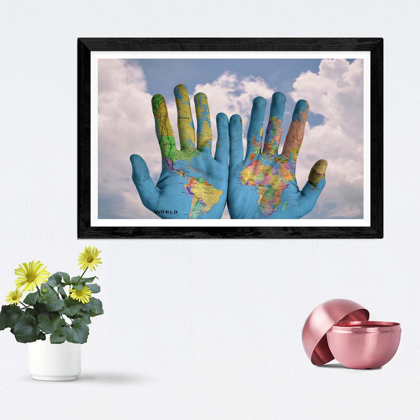 Each on Hand Abstract Framed Photography