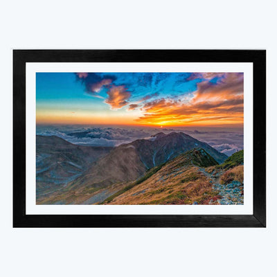 Sunset Travel Framed Photography