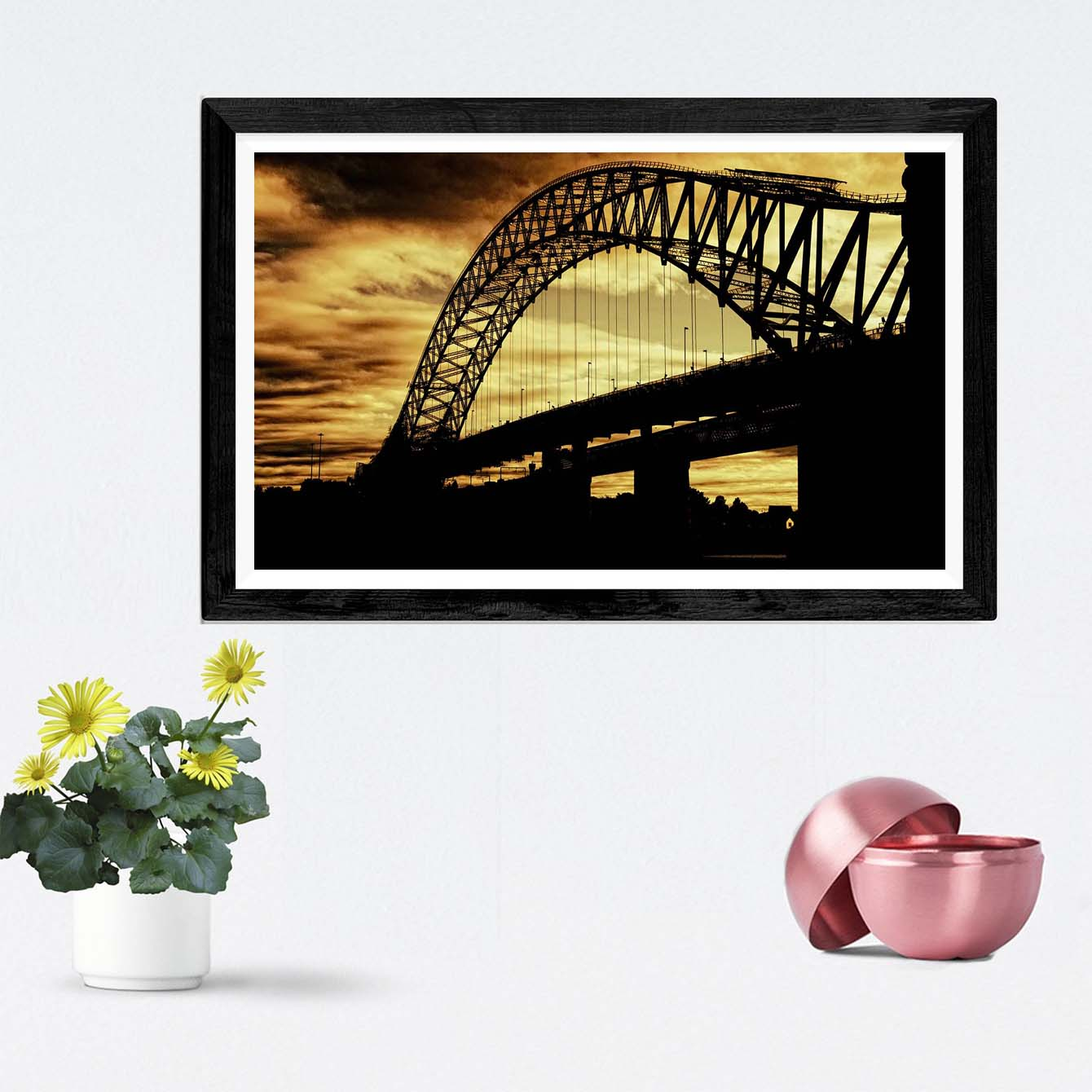 Bridge Cities Framed Photography