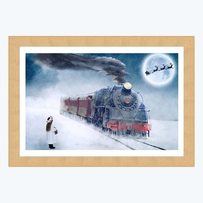Train Winter Framed Photography