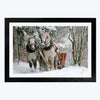 Winter Horse Animal Framed Photography