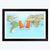 World Map Framed Photography