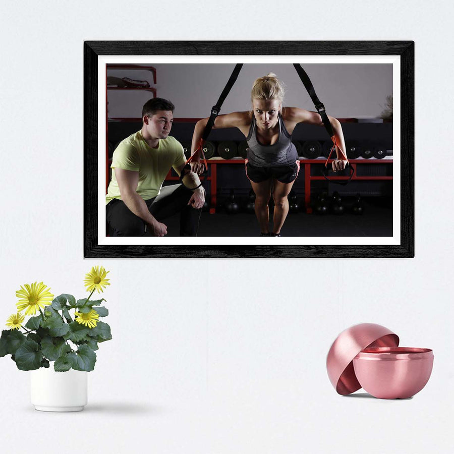 Gym Motivation Framed Photography