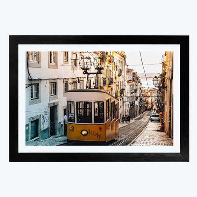 Wire Train Travel Framed Photography
