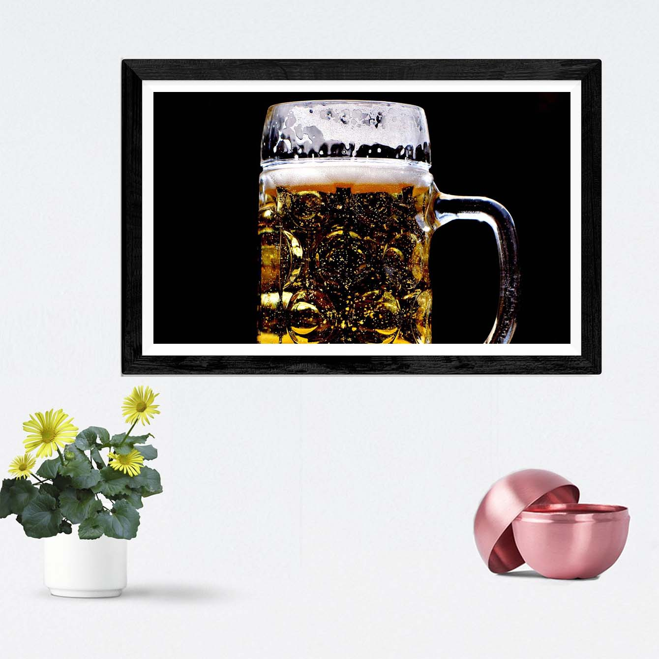Beer Glass Alcohol Framed Photography