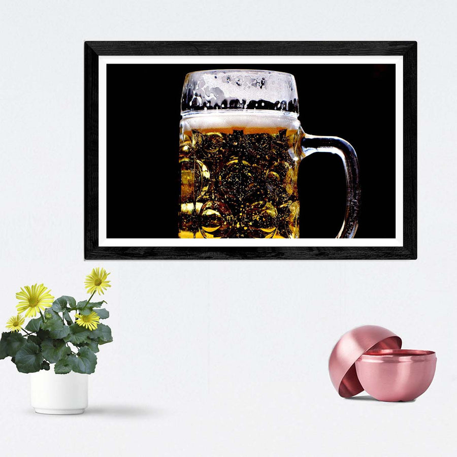 Beer Glass Framed Photography